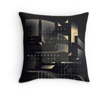Composition of golden abstract geometry #2 Throw Pillow