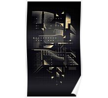 Composition of golden abstract geometry #2 Poster