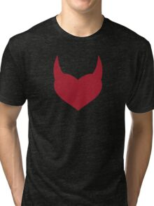 Horny Devil - love, heart, valentine, fun, cute, funny, erotic, sexy Tri-blend T-Shirt