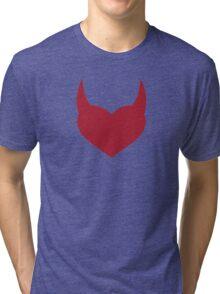 Horny Devil - love, heart, valentine, fun, cute, funny, erotic, sexy Tri-blend T-Shirt