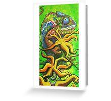 Vibrant Chameleon Greeting Card