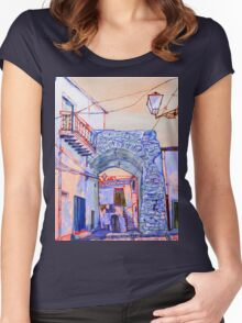 Sicilian archway Women's Fitted Scoop T-Shirt