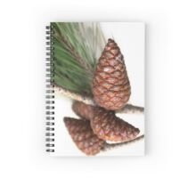 Branch of pine with the pinecones Spiral Notebook