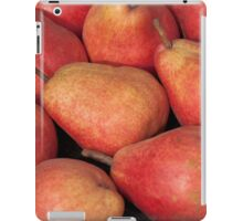 Background of ripe juicy pears iPad Case/Skin