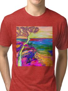 Looking out to sea. Tri-blend T-Shirt