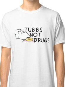 Tubbs Not Drugs - Neko Atsume (Black) Classic T-Shirt