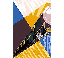 Train art deco style Southern Railway, travel South for Winter Sunshine Photographic Print