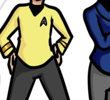 Kirk and Spock Sticker