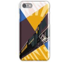 Train art deco style Southern Railway, travel South for Winter Sunshine iPhone Case/Skin