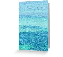 Sea surface background Greeting Card