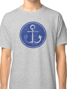 Anchor (one color - blue) Classic T-Shirt