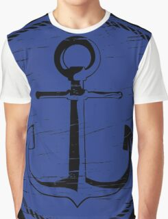 Anchor (one color - blue) Graphic T-Shirt