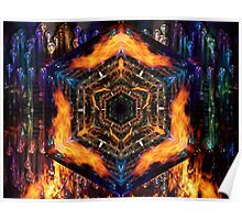 Fire Air Water Earth Poster