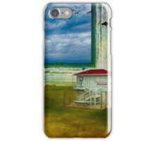 Surreal beach at winter iPhone Case/Skin