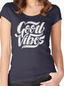 Good Vibes - Feel Good T-Shirt Design Women's Fitted Scoop T-Shirt