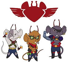 Biker Mice bros by LadyCerbero