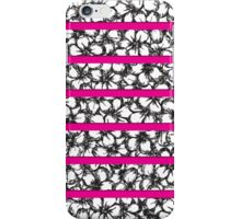Bold Girly Hand Drawn Flowers on Neon Pink iPhone Case/Skin