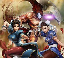 Street Fighter X Tekken and Chun li legends Phone Case by juant2015