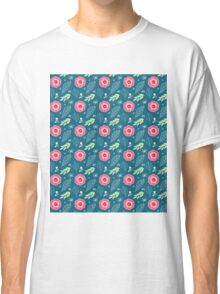 Pretty Spring Flowers Illustration Pattern Classic T-Shirt