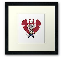 Biker mice Vincent Framed Print