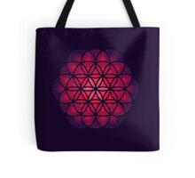 Purple Flower of Life Tote Bag