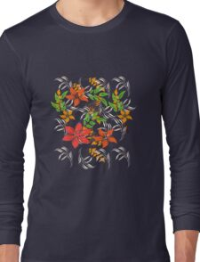 Floral Pattern #35  Long Sleeve T-Shirt
