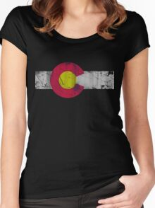 Vintage State Flag of Colorado Women's Fitted Scoop T-Shirt
