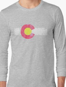 Vintage State Flag of Colorado Long Sleeve T-Shirt