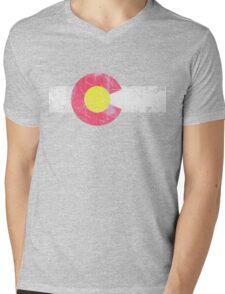 Vintage State Flag of Colorado Mens V-Neck T-Shirt