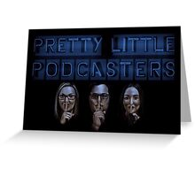 Pretty Little Podcasters - Blue Greeting Card