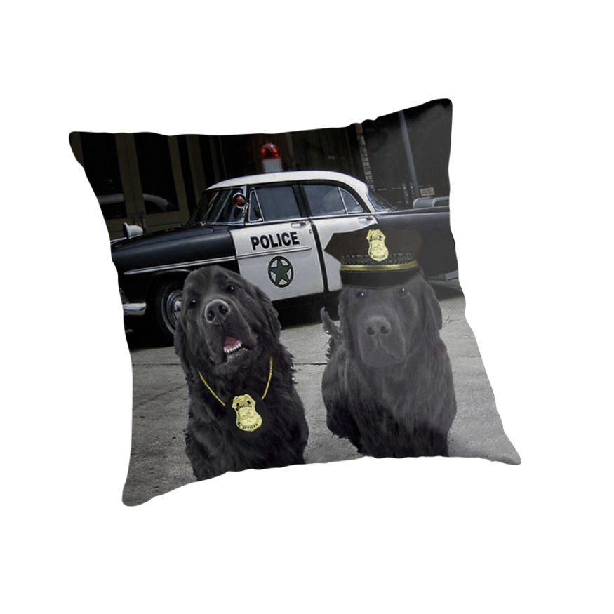 "☞ º°""˜`""°☜♥☞ BAD BOYS TAKEN FROM THEME SONG-POLICE DOGS THROW PILLOW ☞ º°""˜`""°☜♥☞ by ✿✿ Bonita ✿✿ ђєℓℓσ"