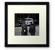 "☞ º°""˜`""°☜♥☞ BAD BOYS TAKEN FROM THEME SONG-POLICE DOGS THROW PILLOW ☞ º°""˜`""°☜♥☞ Framed Print"