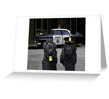 "☞ º°""˜`""°☜♥☞ BAD BOYS TAKEN FROM THEME SONG-POLICE DOGS THROW PILLOW ☞ º°""˜`""°☜♥☞ Greeting Card"