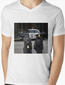 "☞ º°""˜`""°☜♥☞ BAD BOYS TAKEN FROM THEME SONG-POLICE DOGS THROW PILLOW ☞ º°""˜`""°☜♥☞ Mens V-Neck T-Shirt"