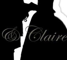 Outlander/Wedding silhouette  Sticker