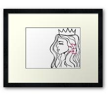 Invisible Crown Framed Print