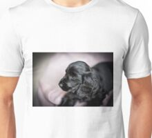 BLACK COCKER SPANIEL PUPPY PROFILE Unisex T-Shirt