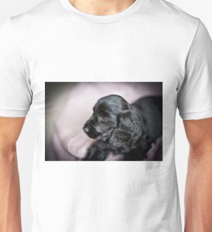 BLACK COCKER SPANIEL PUPPY PROFILE Unisex T-Shirt