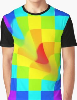 Twisted Rainbow Pixels Graphic T-Shirt