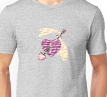 Pink Love Arrow Piercing a Purple Heart Unisex T-Shirt