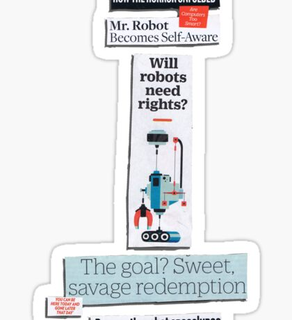 Apocalypse Log: Robots Sticker