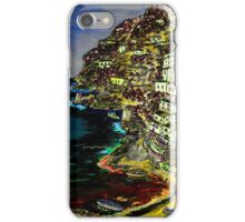 Positano at night. iPhone Case/Skin
