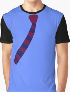 Hipster Knitted Tie Graphic T-Shirt