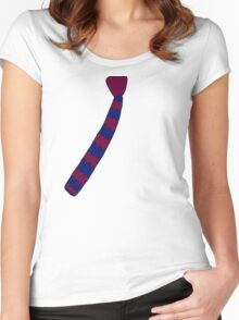 Hipster Knitted Tie Women's Fitted Scoop T-Shirt