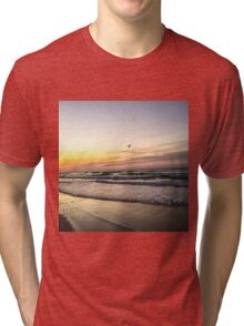 Surf City sunrise Tri-blend T-Shirt