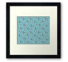 Cute Raccoon Pattern Framed Print