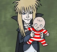 The Goblin King with Toby cartoon by pickledjo
