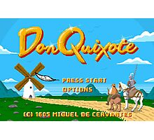 Don Quixote | The Video Game Photographic Print