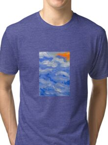 sunset by the sea Tri-blend T-Shirt