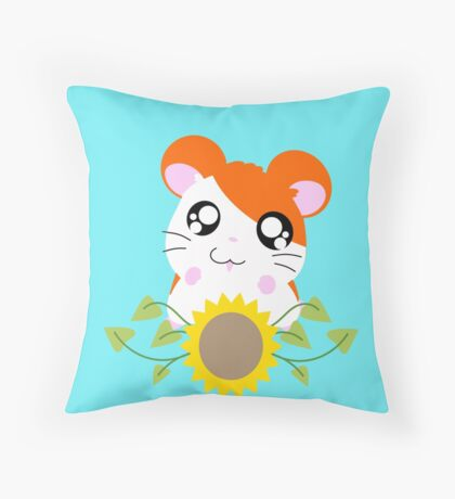 Hamtaro // Sunflower Throw Pillow